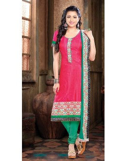 Office Wear Readymade Pink Silk Salwar Suit - 77142