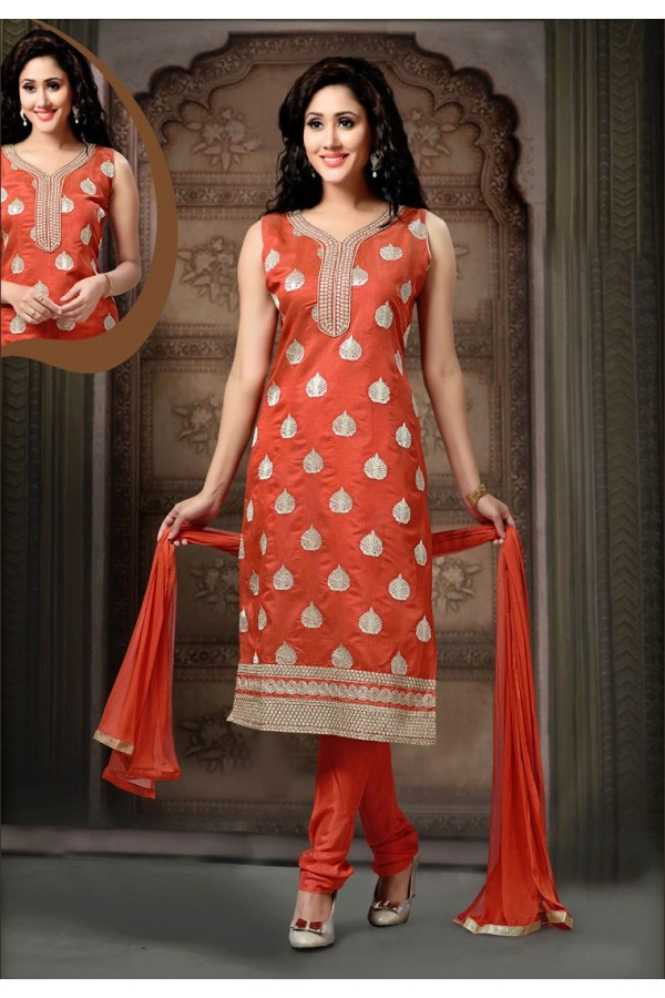 Party Wear Readymade Red Salwar Suit - 77794