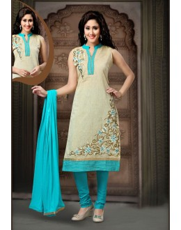 Party Wear Readymade Beige Salwar Suit - 77795