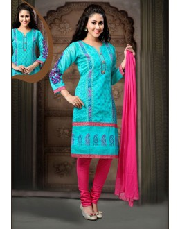 Party Wear Readymade Sky Blue Salwar Suit - 77797