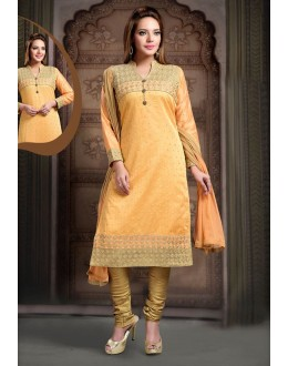 Party Wear Readymade Orange Salwar Suit - 77806