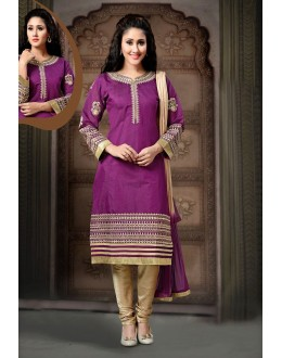 Party Wear Readymade Fuchsia Salwar Suit - 77838