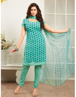 Office Wear Green Crepe Silk Salwar Suit  - 77817