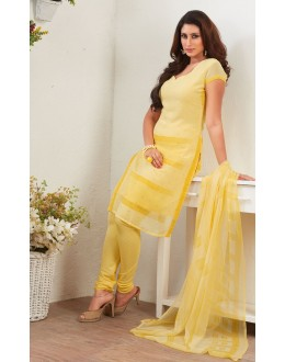Office Wear Yellow Crepe Silk Salwar Suit  - 77820