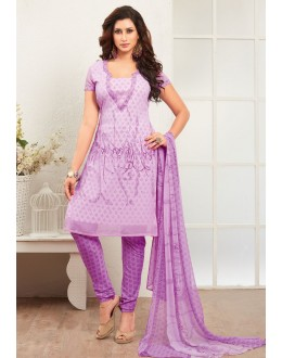 Office Wear Lavender Crepe Silk Salwar Suit  - 77823