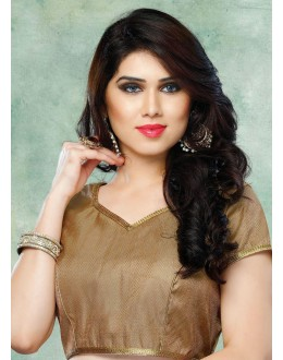 Ethnic Wear Readymade Brown Brocade Blouse - 77893
