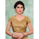 Party Wear Readymade Brown Brocade Blouse - 77903