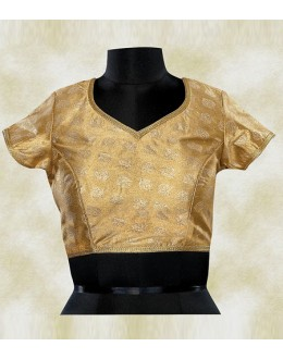 Festival Wear Readymade Brown Brocade Blouse - 77947