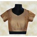 Casual Wear Readymade Brown Brocade Blouse - 77949