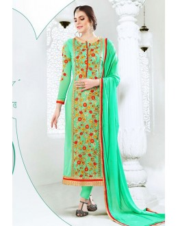 Festival Wear Green Georgette Salwar Suit  - 77989