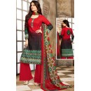 Office Wear Red Cotton Palazzo Suit  - 78266