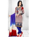 Office Wear Multi-Colour Cotton Salwar Suit  - 78281
