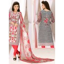 Office Wear Multi-Colour Cotton Salwar Suit  - 78295