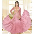 Ethnic Wear Pink Georgette Anarkali Suit  - 78965