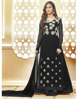 Festival Wear Black Georgette Palazzo Suit  - 78967