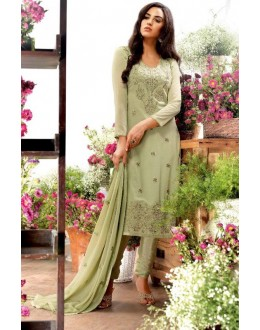 Festival Wear Green Georgette Salwar Suit  - 79201
