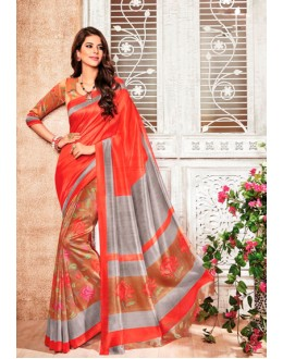 Ethnic Wear Red Silk Saree  - 79240