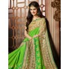 Festival Wear Green & Beige Saree - 79362