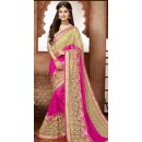Festival Wear Pink Embroidered Saree - 79365