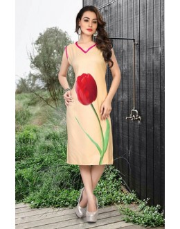 Office Wear Readymade Beige Kurti - 80228