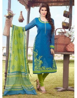 Festival Wear Readymade Blue Salwar Suit - 79805