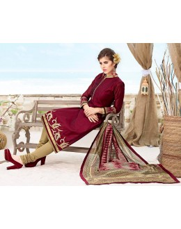 Office Wear Readymade Maroon Salwar Suit - 79809