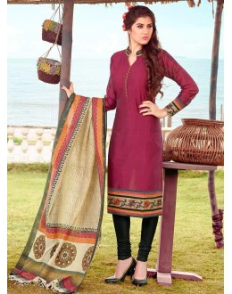Office Wear Readymade Violet Salwar Suit - 79835