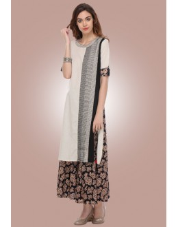Casual Wear Readymade White Cotton Kurti - 80011