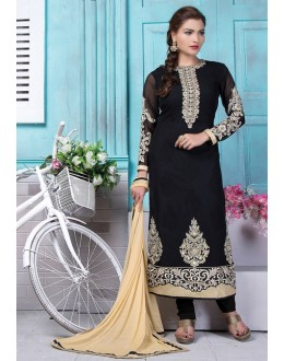 Festival Wear Black Georgette Salwar Suit  - 80193