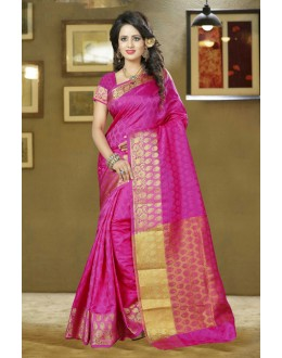 Party Wear Pink Silk Saree - 80572