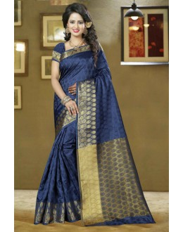 Festival Wear Blue Silk Saree - 80573