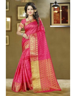 Ethnic Wear Pink Silk Saree - 80574
