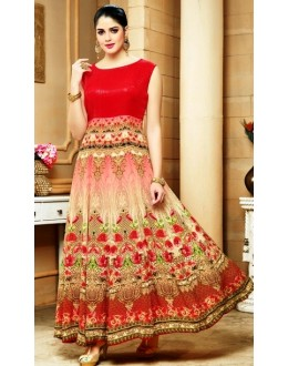 Festival Wear Red Georgette Anarkali Suit  - 80606
