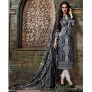 Casual Wear Grey & White Cotton Salwar Suit  - 80636