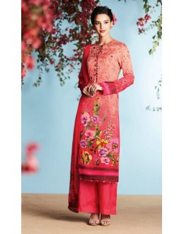 Office Wear Pink Georgette Palazzo Suit  - 80667