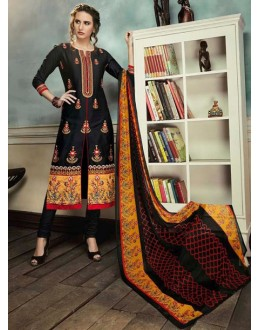 Festival Wear Black Georgette Salwar Suit  - 80692