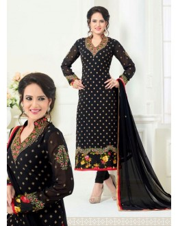 Party Wear Black Georgette Salwar Suit - 81239