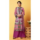 Ethnic Wear Multi-Colour Chiffon Palazzo Suit  - 81264