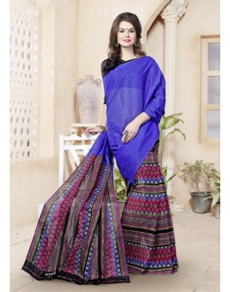 Casual Wear Blue Cotton Saree  - 82468