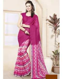 Ethnic Wear Pink Cotton Saree  - 82471
