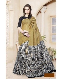 Casual Wear Beige Cotton Saree  - 82472
