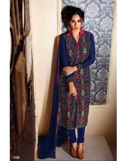 Eid Special Blue  Churidar  suit  - 2348
