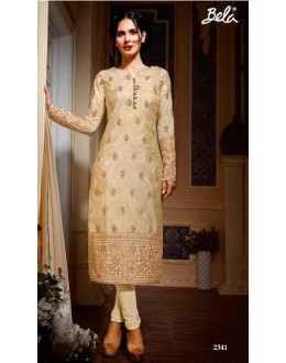 Eid Special Cream  Salwar Churidar suit -2341