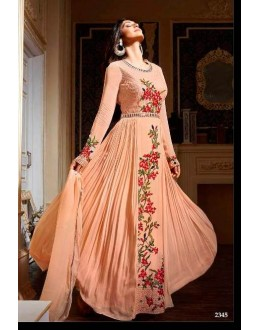 Party Wear Pech  Anarkali suit -2345