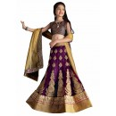 Kids Wear Designer Purple Lycra Lehenga Choli - 63062