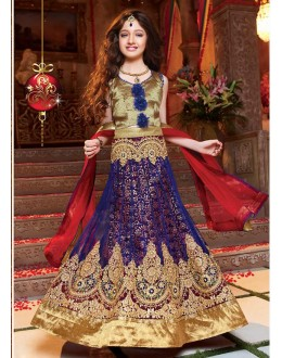 Kids Wear Designer Blue Net Lehenga Choli - 72779