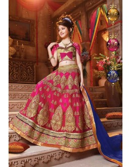 Kids Wear Designer Pink Net Lehenga Choli - 72781