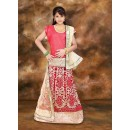 Kids Wear Girl Red & Beige Net Lehenga Choli - 75107