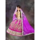 Kids Wear Designer Pink Net Lehenga Choli - 76636