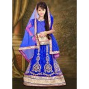 Kids Wear Beautiful Blue Net Lehenga Choli - 76643